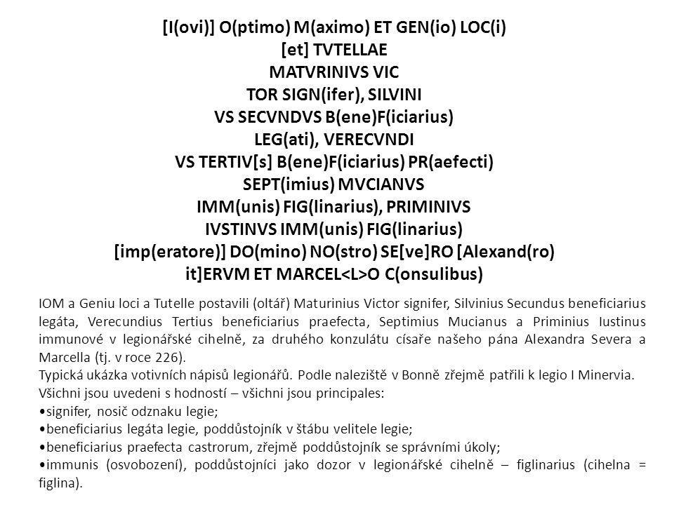 [I(ovi)] O(ptimo) M(aximo) ET GEN(io) LOC(i) [et] TVTELLAE